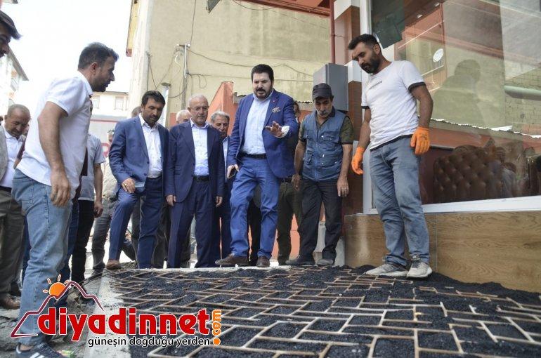 AK Parti Ağrı İl Yönetimi ve Başkan Sayan asfalt çalışmalarını yerinde inceledi1