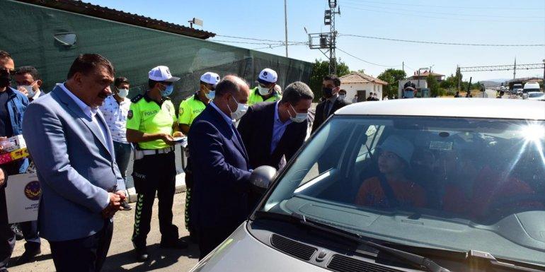 Emniyet Genel Müdürü Mehmet Aktaş, Malatya'da trafik denetimine katıldı