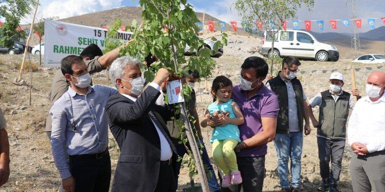 15 Temmuz şehitlerinin isimleri Erzincan'da hatıra ormanında yaşatılacak