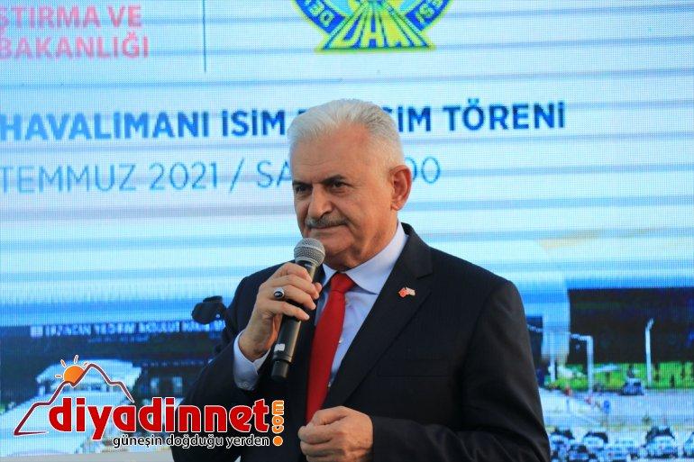 ve Akbulut'un Başkanı Başbakan Eski Meclis Havalimanı'na merhum Yıldırım ismi Erzincan verildi 9