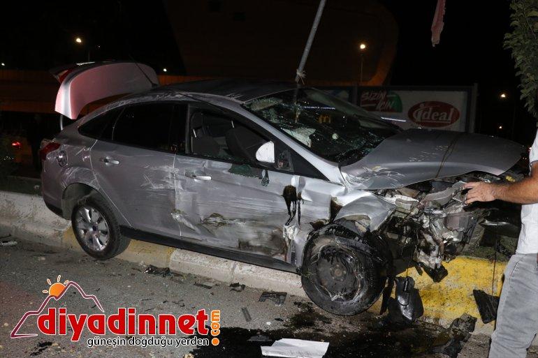 yaralandı çarpıştığı Ağrı'da iki otomobilin bir kişi kazada 5