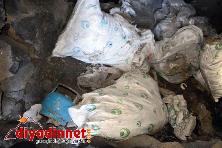 Dağı'nda geçirildi Ağrı mağarada ele malzemeleri yaşam kullandığı teröristlerin 3
