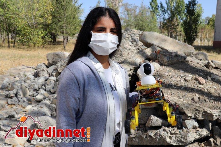 Ağrılı lise öğrencileri arama kurtarma robotu geliştirdi