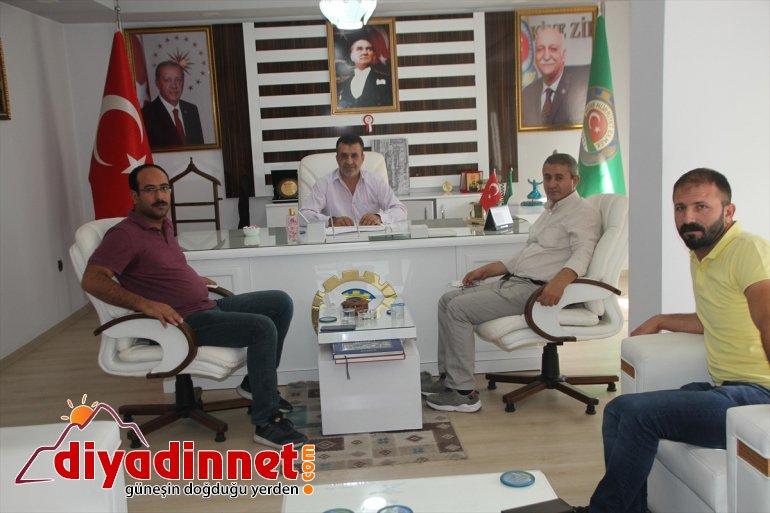 Ağrı Şeker Fabrikası Müdürü Bayram, Malazgirt Ziraat Odası'nı ziyaret etti