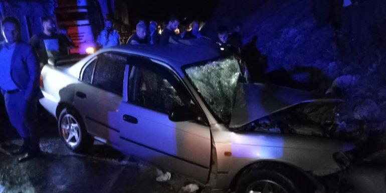 Bitlis'te tır ile otomobilin çarpışması sonucu iki kişi yaralandı1