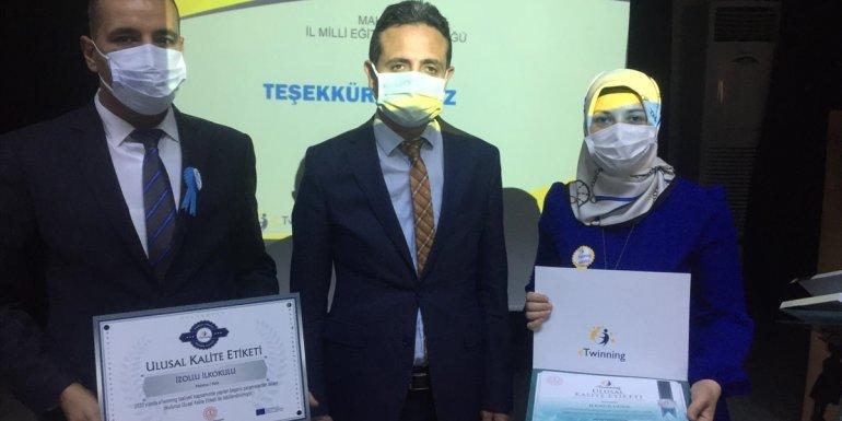 Kale İzollu İlkokulu 'e-Twinning Ulusal Kalite Etiketi' ödülü aldı