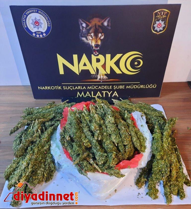 Malatya'da 5 kilo 192 gram esrar ele geçirildi