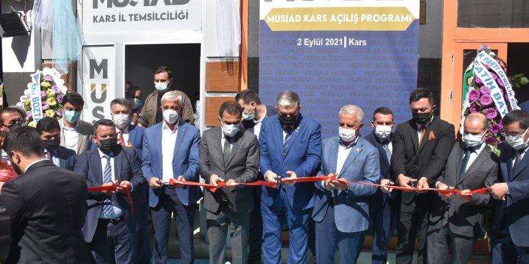 MÜSİAD Kars şubesinin yeni hizmet binası açıldı