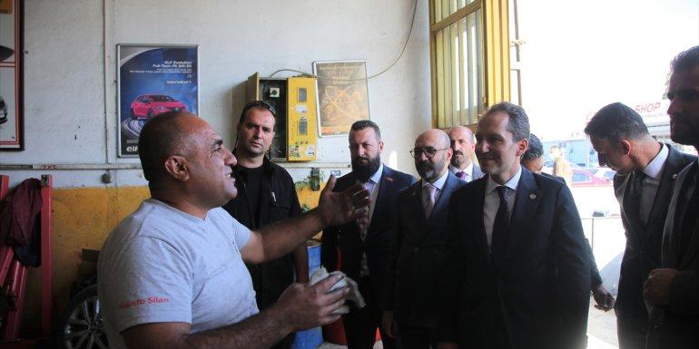 VAN - Yeniden Refah Partisi Genel Başkanı Fatih Erbakan, esnafı ziyaret etti1