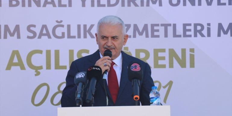 AK Parti'li Binali Yıldırım, Erzincan'da annesinin adı verilen yüksekokulun açılışında konuştu: