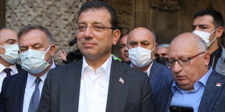 ERZURUM - İstanbul Büyükşehir Belediye Başkanı İmamoğlu, ziyaretlerde bulundu1