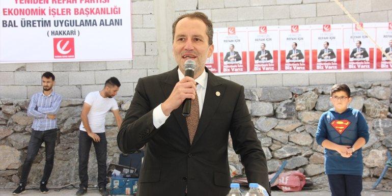 Yeniden Refah Partisi Genel Başkanı Erbakan, Hakkari'de konuştu: