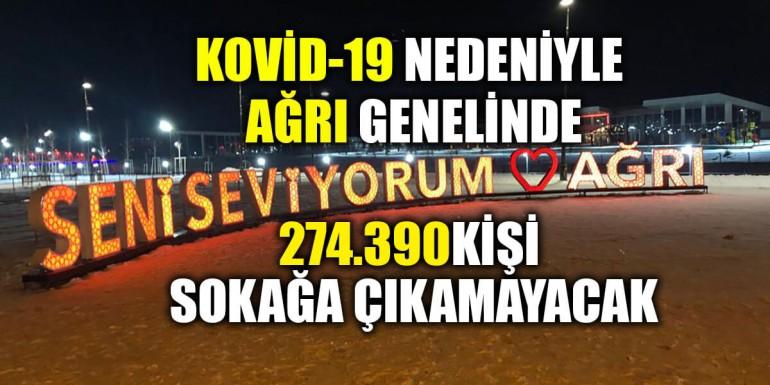 Kovid-19 nedeniyle Ağrı genelinde 274.390 kişi sokağa çıkamayacak